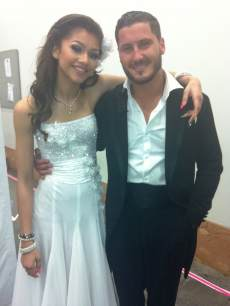 Zendaya and Val Chmerkovskiy backstage at 'Dancing with the Stars'