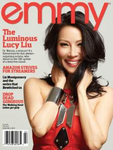 Lucy Liu on the cover of Emmy magazine (April 2013)