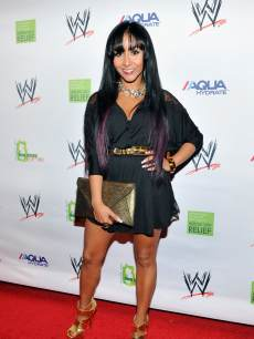 Nicole 'Snookie' Polizzi attends WWE Superstars for Sandy Relief at Cipriani, Wall Street on April 4, 2013 in New York City