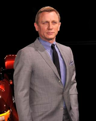 Daniel Craig is seen at the Range Rover Sport world unveiling at the 2013 New York Auto Show at Skylight at Moynihan Station in New York City on March 26, 2013