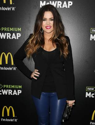 Khloe Kardashian attends the McDonald's Premium McWrap Launch Party held at Paramount Studios on March 28, 2013 in Hollywood, Calif.
