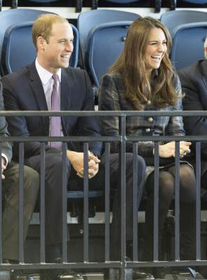 Prince William, Earl of Strathearn and Catherine, Countess of Strathearn visit The Emirates Arena on April 4, 2013