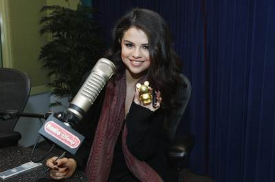 Selena Gomez visits Radio Disney for a &#8216;Take Over&#8217; segment in Burbank, Calif., on April 5, 2013. Her segment airs April 8 on Radio Disney.
