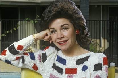 Actress and former Disney Mousketeer Annette Funicello poses during a 1988 photo shoot