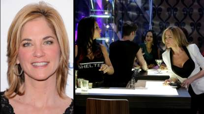 Kassie DePaiva (left); Jenni 'JWoww' Farley with Kassie DePaiva on 'One Life To Live' (right)