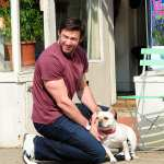 Hugh Jackman is seen (looking adorable with his dog) in the West Village on April 10, 2013 in New York City