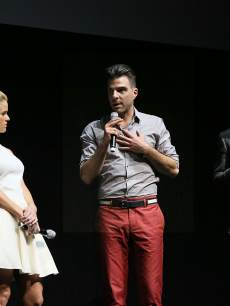 'Star Trek Into Darkness' stars John Cho, Alice Eve, Zachary Quinto and Chris Pine onstage at CinemaCon 2013 Off and Running: Gala Opening Night Presentation by Paramount Pictures at Caesars Palace on April 15, 2013 in Las Vegas