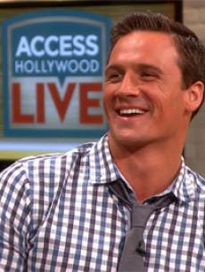 Ryan Lochte appears on Access Hollywood Live on April 18, 2013