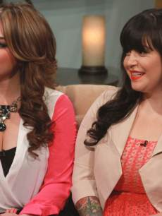 Jenni Rivera&#8217;s daughters, Chiqui and Jacqie, stop by Access Hollywood Live on April 19, 2013 