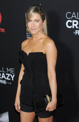 Jennifer Aniston arrives at the Lifetime movie premiere of &#8216;Call Me Crazy: A Five Film&#8217; at Pacific Design Center on April 16, 2013 in West Hollywood, Calif.