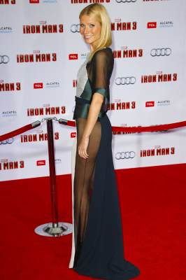 Gwyneth Paltrow attends the premiere of 'Iron Man 3' at the El Capitan Theatre on April 24, 2013 in Hollywood, Calif.