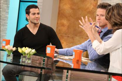 Jesse Metcalfe stops by Access Hollywood Live on April 11, 2013