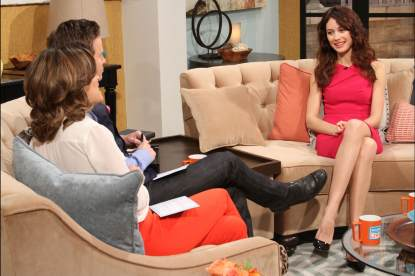 Olga Kurylenko stops by Access Hollywood Live on April 11, 2013