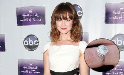 Alexis Bledel and engagement ring