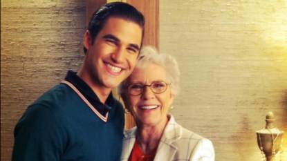 Ryan Murphy's Twitter photo of Darren Criss and Patty Duke, April 18, 2013