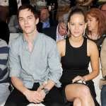 Nicholas Hoult and Jennifer Lawrence attend a cocktail reception during Amber Lounge Fashion Monaco 2012 at Le Meridien Beach Plaza Hotel on May 25, 2012 in Monaco