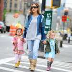 Sarah Jessica Parker is seen with daughters Tabitha and Marion in the West Village on April 30, 2013 in New York City