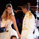 Mariah Carey and Nick Cannon (with twins Monroe and Moroccan) seen renewing their vows at Disneyland on April 30, 2013