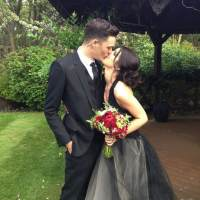 Shenae Grimes Marries Josh Beech In A Black Vera Wang Gown
