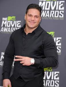 Ronnie Ortiz-Magro arrives at the 2013 MTV Movie Awards at Sony Pictures Studios on April 14, 2013 in Culver City, Calif.