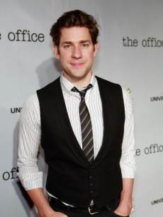 John Krasinski is seen at 'The Office' wrap party at in Los Angeles on March 17, 2013