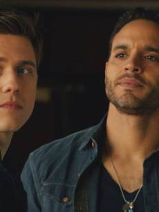 Aaron Tveit as Mike Warren, Daniel Sunjata as Paul Briggs in USA&#8217;s 2013 new summer series, &#8216;Graceland&#8217;