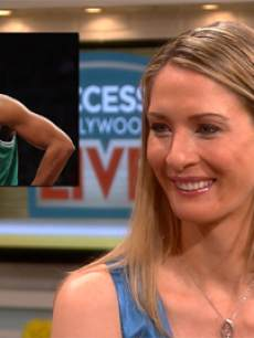 Carolyn Moos appears on Access Hollywood Live on May 1, 2013