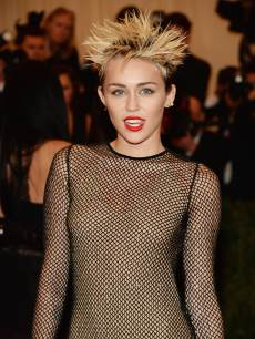 Miley Cyrus attends the Costume Institute Gala for the 'PUNK: Chaos to Couture' exhibition at the Metropolitan Museum of Art on May 6, 2013 in New York City