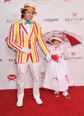 Larry Birkhead and Dannielynn Birkhead attend the 139th Kentucky Derby at Churchill Downs on May 4, 2013 in Louisville, Kentucky