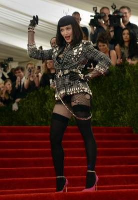 Madonna arrives at the Metropolitan Museum of Art's Costume Institute Gala benefit in honor of the museum's latest exhibit, 'Punk: Chaos to Couture' May 6, 2013 in New York