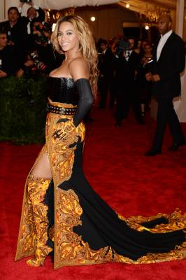 Beyonce attends the Costume Institute Gala for the &#8216;PUNK: Chaos to Couture&#8217; exhibition at the Metropolitan Museum of Art on May 6, 2013 in New York City
