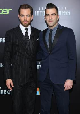 Chris Pine (and Zachary Quinto attend the 'Star Trek Into Darkness' screening at AMC Loews Lincoln Square on May 9, 2013 in New York City