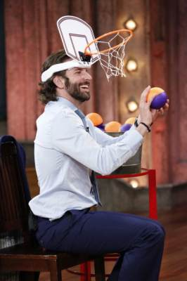 Bradley Cooper is seen playing a game on 'Late Night with Jimmy Fallon' on May 13, 2013