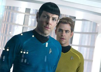 Zachary Quinto and Chris Pine in 2013's 'Star Trek Into Darkness'