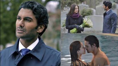 Sendhil Ramamurth in 'Beauty and The Beast' (left); A scene from this week's episode with Kristin Kreuk and Jay Ryan (bottom right)