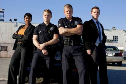 Regina King, Ben Mckenzie, Michael Cudlitz and Shawn Hatosy of &#8216;Southland&#8217;