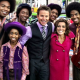 The boys from Motown Musical join Billy Bush and Kit Hoover on Access Hollywood Live in New York City on May 9, 2013