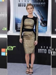 Zoe Saldana, Alice Eve And Kate Beckinsale At Los Angeles Premiere Of &#8216;Star Trek: Into Darkness&#8217;