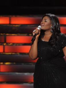 Candice Glover performs after winning the 'American Idol' Season 12 title at the Nokia Theatre L.A. Live, May 16, 2013