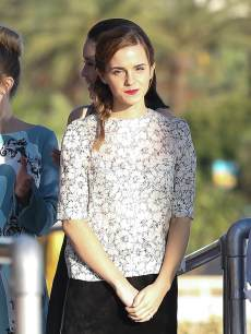 Emma Watson is sighted on the &#8216;Le Grand Journal&#8217; TV show set during the 66th annual Cannes Film Festival on May 17, 2013 in Cannes, France