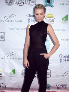 Portia de Rossi arrives at the 6th Annual Compton Jr. Posse Gala at Los Angeles Equestrian Center on May 18, 2013 in Los Angeles