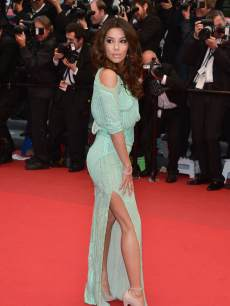 Eva Longoria shows some leg at the Premiere of &#8216;Jimmy P. (Psychotherapy Of A Plains Indian)&#8217; at The 66th Annual Cannes Film Festivalon May 18, 2013 in Cannes, France