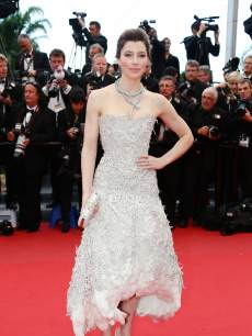 Jessica Biel arrives at the 'Inside Llewyn Davis' Premiere during the 66th Annual Cannes Film Festival at Palais des Festivals on May 19, 2013 in Cannes, France