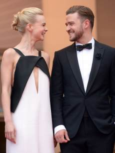Carey Mulligan and Justin Timberlake are all smiles at the 'Inside Llewyn Davis' premiere during the 66th Annual Cannes Film Festival on May 19, 2013 in Cannes, France