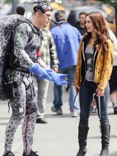 Megan Fox and Alan Ritchson as Ninja Turtle Raphael are seen filming on location for &#8216;Teenage Mutant Ninja Turtles&#8217; on May 20, 2013 in New York City