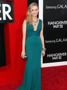 Heather Graham attends the premiere of 'Hangover Part III' at the Westwood Village Theater on May 20, 2013 in Westwood, Calif.