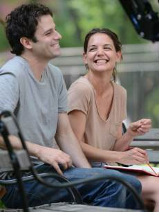 Katie Holmes and Luke Kirby are seen on the set of 'Mania Days' on May 21, 2013 in New York City