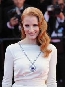 Jessica Chastain attends the 'Cleopatra' premiere during The 66th Annual Cannes Film Festival at The 60th Anniversary Theatre on May 21, 2013 in Cannes, France