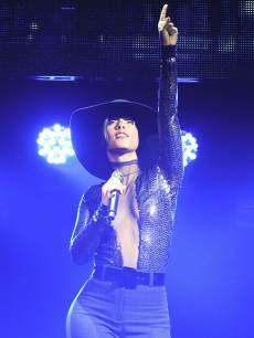 Alicia Keys performs at Odyssey Arena on May 21, 2013 in Belfast, Northern Ireland