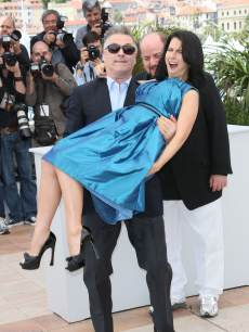 Alec Baldwin and Hilaria Baldwin attend the photocall for 'Seduced and Abandoned' during The 66th Annual Cannes Film Festival at Palais des Festivals on May 21, 2013 in Cannes, France